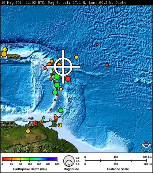 tsunami warning caribbean