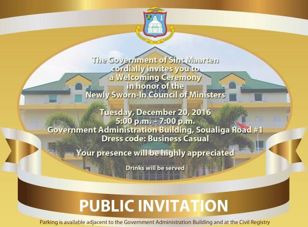 DUTCH SINT MAARTEN GOVERNMENT INVITATION